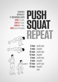 Push ups & squat