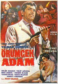 """""""Örümcek Adam"""" (1966) Yönetmen :Cevat Okçugil Yılmaz Gündüz ,Neriman Köksal,Baki Tamer."""