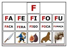 Atividades de Sílabas e palavras para imprimir Alphabet Activities, Preschool Activities, Portuguese Lessons, Literacy, Homeschool, Teaching, Education, Games, Feliciano