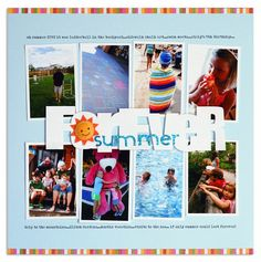 Forever Summer - easy way to include vertical photos