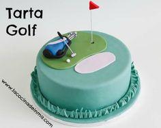 Tarta Golf / Fondant Golf cake