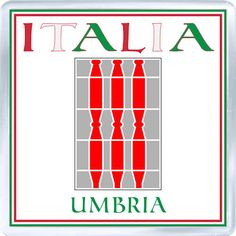 Acrylic Fridge Magnet: Italy. Coat of Arms of Umbria (Umbria)