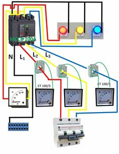 manual changeover switch wiring diagram for portable generator 3 Phase Manual Transfer Switch amp meter electronic engineering, electrical engineering, diy electronics, electronics projects, electrical wiring
