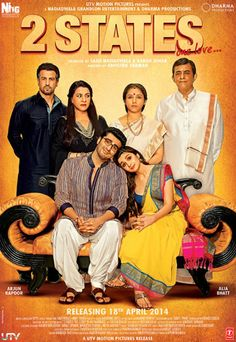 2 States (2014): Awesome Movie :D Except the showdown at Duke's Shaadi, I think the movie is pretty realistically entertaining. I myself am a Southie and I could relate so much with Ananya's family and traditions and I live in the North so I know how Punjabis typically are; basically, this movie does justice to both sides of the story. Also, freakin' fabulous songs :D I recommend it!!
