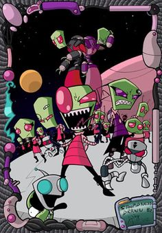 Invader Zim, quite possibly the cutest show ever aired. Gorgeous coloring and excellent voice acting throughout.