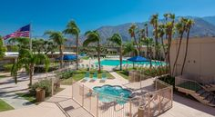 Days Inn Palm Springs Palm Springs Set on 4 acres of gardens, this hotel is located near central Palm Springs, California and the Palm Springs Aerial Tramway. Guest rooms offer balconies or patios with views of the San Jacinto Mountains.