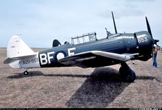 """Commonwealth CA-16 Wirraway Mk3: The CAC Wirraway was a training and general purpose military aircraft manufactured in Australia by the Commonwealth Aircraft Corp. (CAC) between 1939 and 1946. The aircraft was an Australian development of the North American NA-16 training aircraft.  During World War II, the Wirraway saw action against Japanese forces. It was also the starting point for the design of an """"emergency fighter"""", the CAC Boomerang. Wikipédia"""