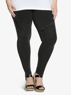 Mineral Wash Moto Leggings | Torrid