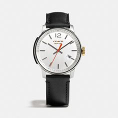 The Bleecker Stainless Steel Three Hand Strap Watch from Coach