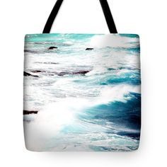 "Windward Oahu Tote Bag by Flamingo Graphix John Ellis (18"" x 18"").  The tote bag is machine washable, available in three different sizes, and includes a black strap for easy carrying on your shoulder.  All totes are available for worldwide shipping and include a money-back guarantee."