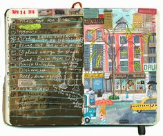 travel diary illustrated by Stephanie K. Birdsong