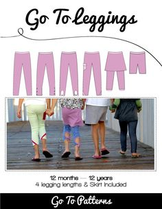 Go To Leggings sewing pattern is the best leggings pattern available! | Go To Patterns