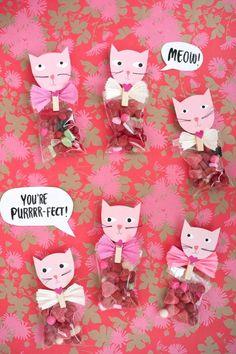 DIY Valentines : DIY Cat Valentine's Favors