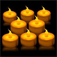 $16.95/dozen. 12 Pack of Tea Light Battery Candles from Windy City Novelties