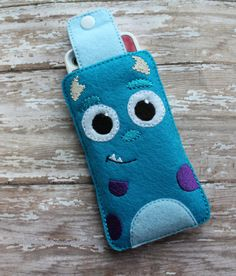 Felt Sulley Monster Inspired Phone Ipod by fancystitchescouture, $10.00