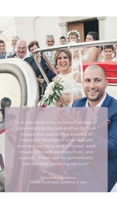 Kind words from a beloved couple that got married on Kos, in Greece Our Wedding Day, Wedding Pics, Wedding Couples, Greece Wedding, Documentary Wedding Photography, Destination Wedding Photographer, Kos, Got Married, Documentaries
