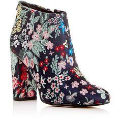 Sam Edelman Campbell Floral Jacquard Block Heel Booties