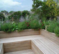 Sunken garden seating benches 41 Ideas for 2019 Deck Seating, Outdoor Seating, Wall Seating, Seating Areas, Built In Garden Seating, Backyard Seating, Banquette Seating, Outdoor Lounge, Corner Garden Seating