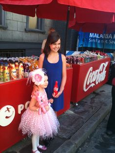 Smiling for Coca Cola with Bailee Madison