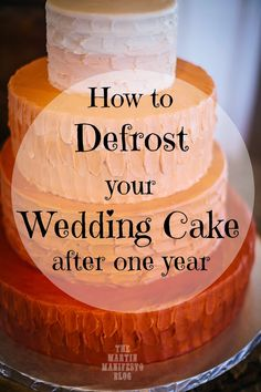 What?! People do this?! Freeze and save your original wedding cake