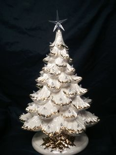 Gold or Silver Tips1618 Tall Full Christmas by CeramicsbyKimi, $235.99