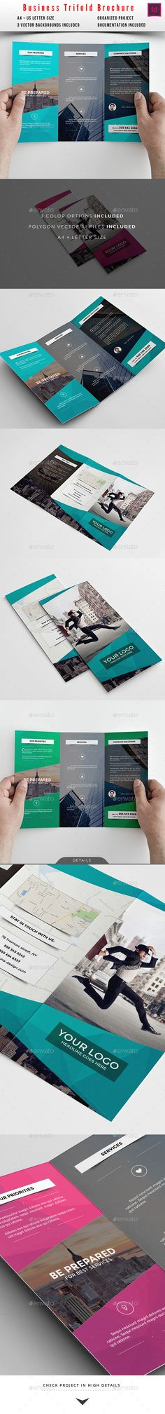 Business Trifold Brochure Template #design Download: http://graphicriver.net/item/business-trifold-brochure/10413512?ref=ksioks