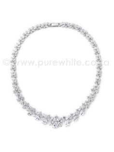 PURE WHITE - Dazzling Cubic Zirconia Necklace 7-007, R1,111.86 (http://www.purewhite.co.za/dazzling-cubic-zirconia-necklace-7-007/)