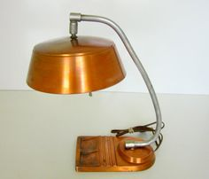 Industrial Copper lamp with pen rest and door nanascottagehouse, €108,61
