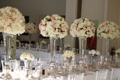 Table Flowers - rose balls - this but on a much smaller scale?