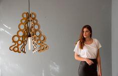 pendant light - handmade ceiling fixture - hanging light - modern lamp -  art decor #DEZAART #Contemporary #pendantlight #pendantlighting #chandelier #art #design #decor #modern #wood