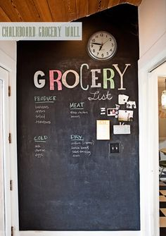 Every house should have one wall that is strictly used as a chalkboard..