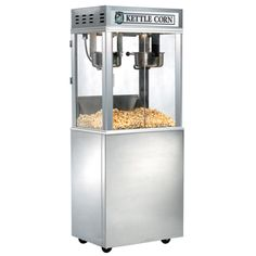 Our Kettle Corn Popmaxx is sure to make enough popcorn to feed the masses as they line up for your delicious kettle corn. This popper is perfect for gourmet popcorn shops and more! Popcorn Shop, Gourmet Popcorn, Popcorn Maker, Kettle Corn, Theater, New Homes, Kitchen Appliances, Basement, Money