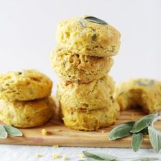 Coconut oil butternut squash sage biscuits made without butter + dairy! Perfectly flaky, made in under 30 minutes