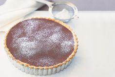 Dark chocolate and Irish cream are combined in this decadent dessert pie.