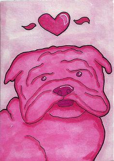 pink bully art