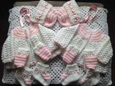 Beautiful set for twins £20 each plus p&p Join my group on facebook Knitted Niceties