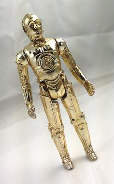 Vintage 1977 Star Wars C3PO droid toy collectible by SwankyDame, $9.00