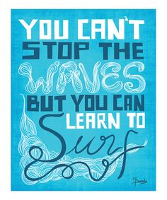 Take a look at this 'Learn to Surf' Print  by Parada Creations on #zulily today!