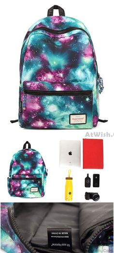 Shining Cool Galaxy Travelling College Backpacks is so cute ! #cool #shining #college #backpack #bag #galaxy