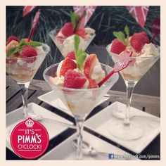 Pimms flavored Eaton Mess - A traditional British dessert!