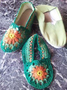 Alpargatas forradas al crochet | Mimi Creaciones