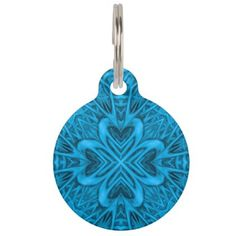 #The Blues Vintage Kaleidoscope Dog Cat Tags - #Petgifts #Pet #Gifts #giftideas #giftidea #petlovers