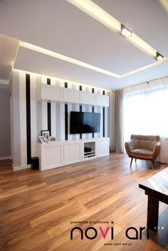 Projekt przebudowy piętra domu zrealizowany przez Pracownie Projektową Novi art - PLN Design