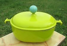 Vintage Le Creuset France Lime Green Oval Dutch Oven Casserole French Authentic
