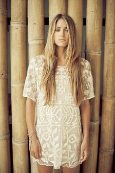 Absolutely stunning 'Alani' hand embroidered lace dress in Ivory. Another beautiful Lilya creation.