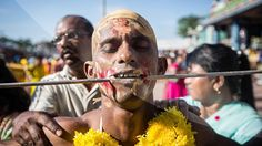 Thaipusam officially commemorates the day when, according to Hindu mythology, the goddess . Hindu Festivals, Deities, Mythology, Piercing, Celebrities, Mai, Accessories, Celebs, Piercings