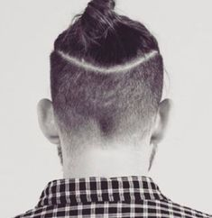 disconnected man bun undercut photograph