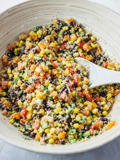 9. Savory Southwest Couscous Salad #healthy #lettucefree #salad #recipes https://greatist.com/eat/salad-recipes-without-lettuce