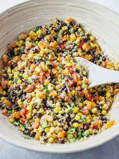 Savory southwest cous cous salad - sounds delish & looks gorgeous!!!