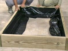 Raised beds take very little space, and can be built right over a concrete patio. .....Wooden Raised-Bed Vegetable Garden
